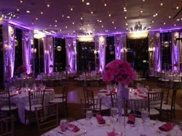 purpleq uplighting for wedding